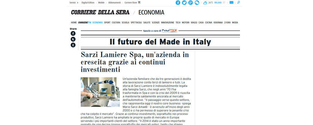 Il futuro del made in Italy